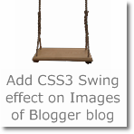 Add Swing effect on Images of Blogger blog