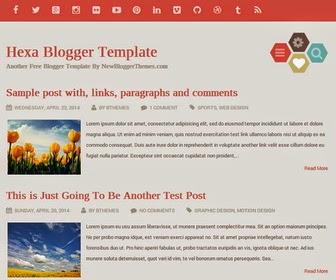 Hexa Blogger Template