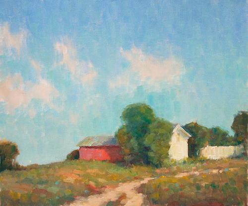New England landscape by Steve Allrich: Slow Road Home