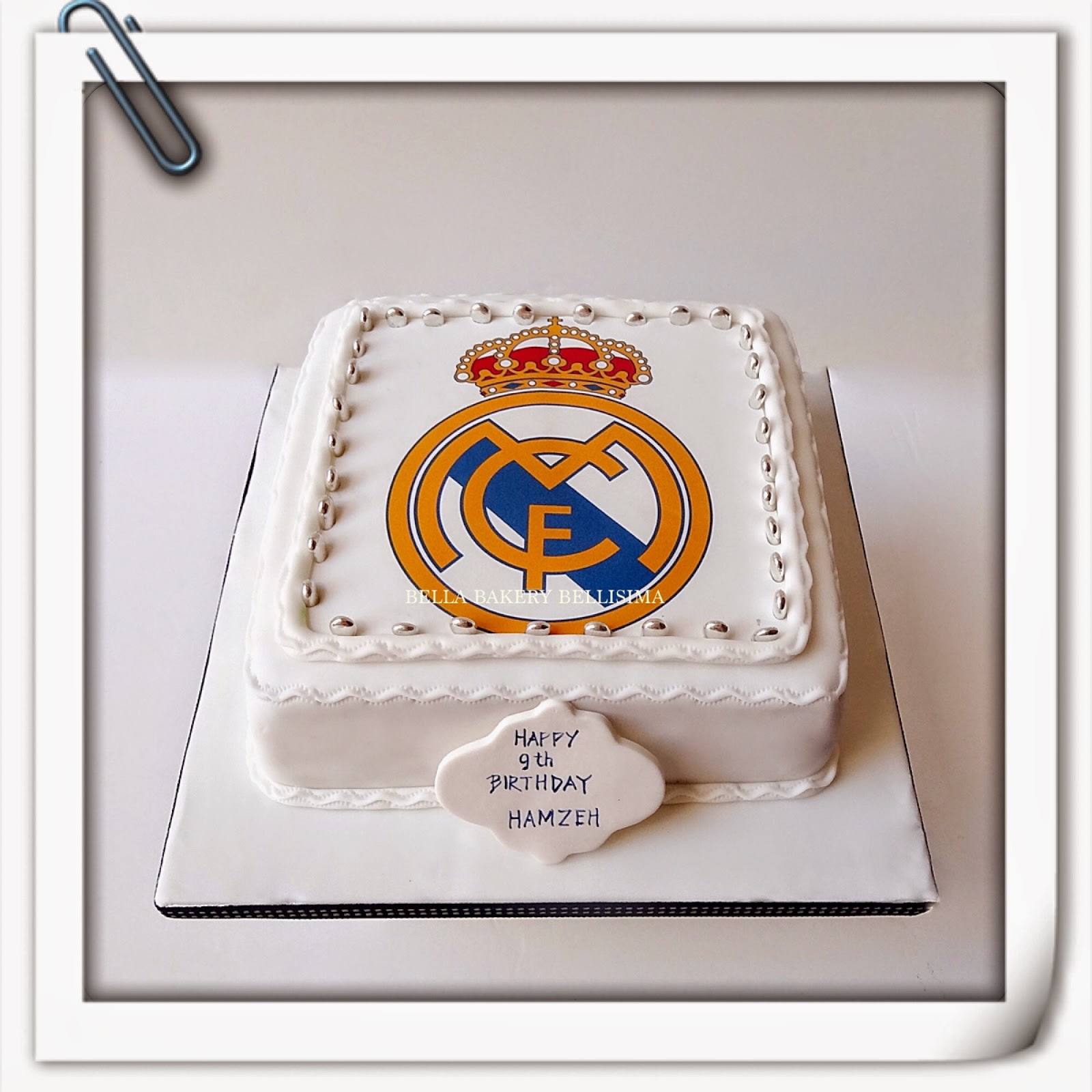 Birthday Cake Images Real : REAL MADRID FOOTBALL CLUB CAKE