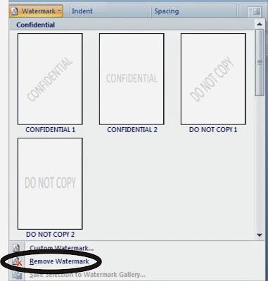 Cara Membuat  Watermark dalam Microsoft Word