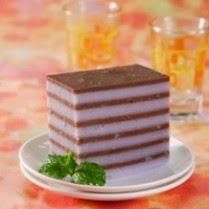Cara Membuat Kue Lapis Talas Cokelat