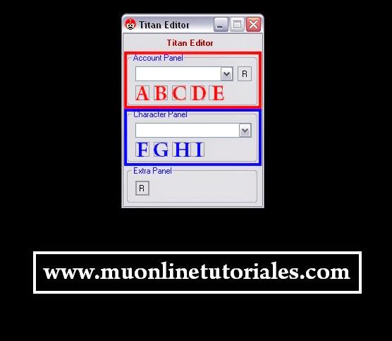 Interfaz del titan editor