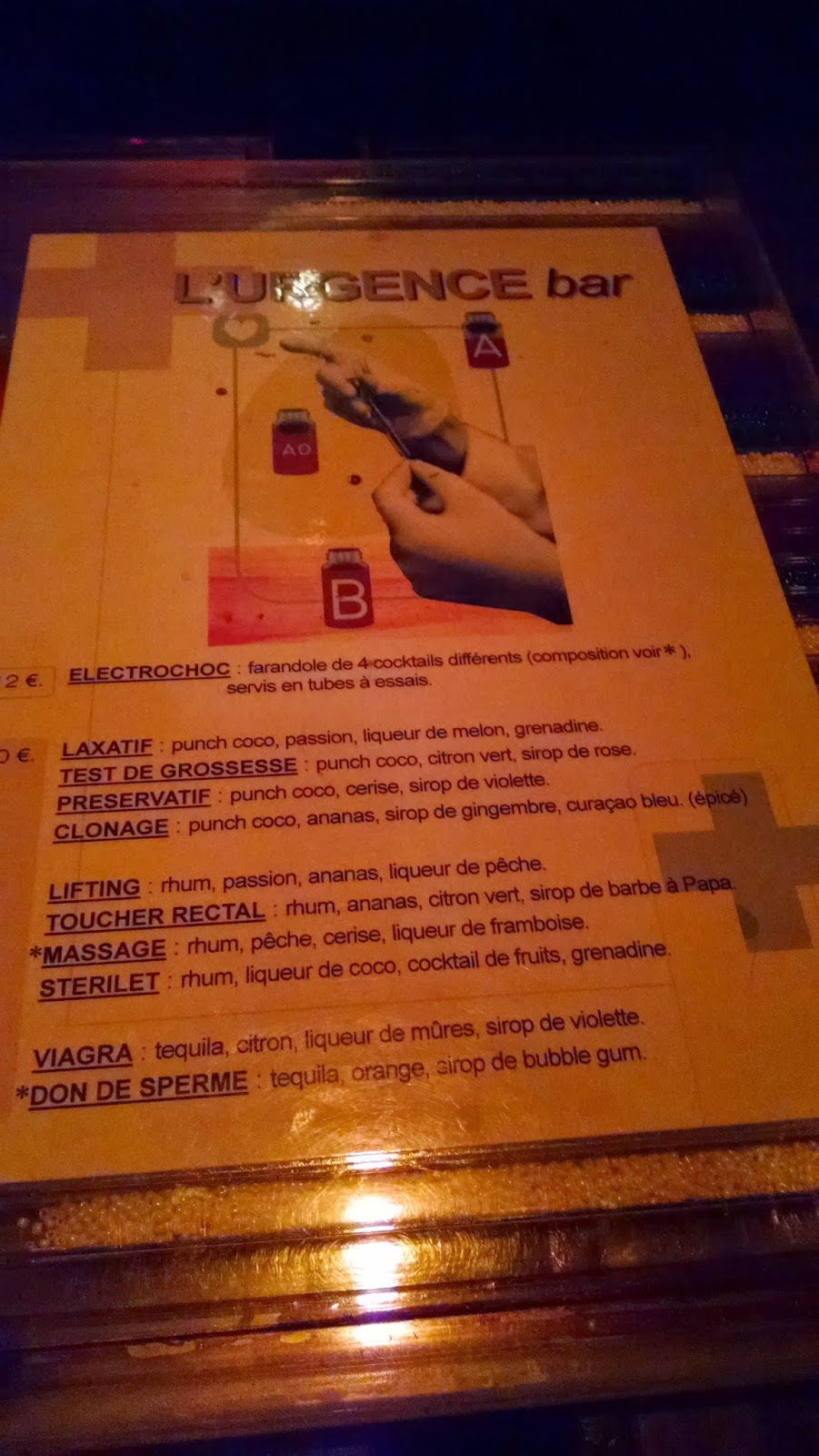 L'urgence Bar Paris