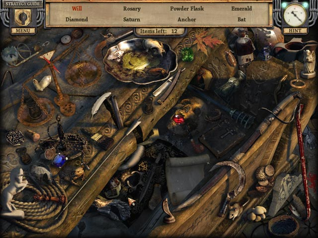Silent Nights: The Pianist Collector's Edition. Screenshot of diamond and emerald.