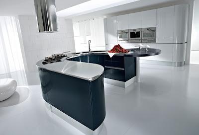 Islas de cocina curvas est tica para tu hogar c mo - Ilot cuisine rond ...