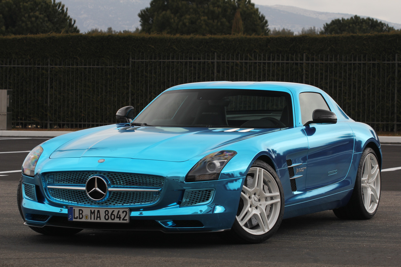 world of auto enthusiasts mercedes benz sls amg electric drive. Black Bedroom Furniture Sets. Home Design Ideas