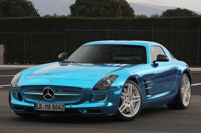 World of auto enthusiasts mercedes benz sls amg electric for Mercedes benz sls amg electric drive