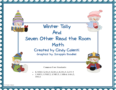 http://www.teacherspayteachers.com/Product/Eight-Read-the-Room-Math-Activities-Winter-Themed-413736