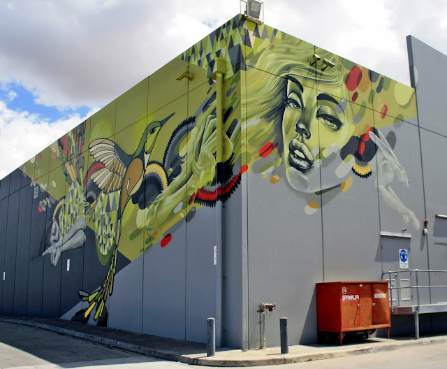 Twoone x bonsai x sofles new mural in melbourne australia for Australian mural