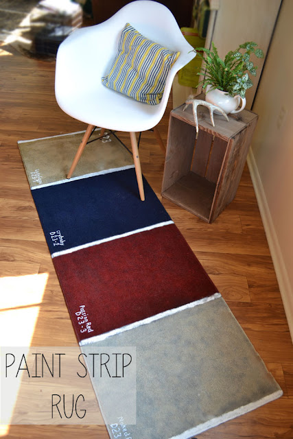 how to make a paint strip rug