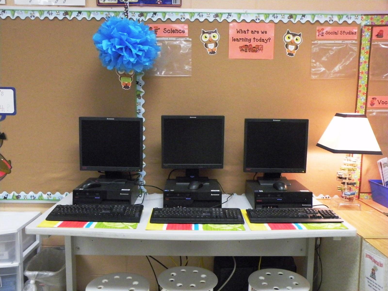 2012 Classroom Set Up on Computer Writing Pad