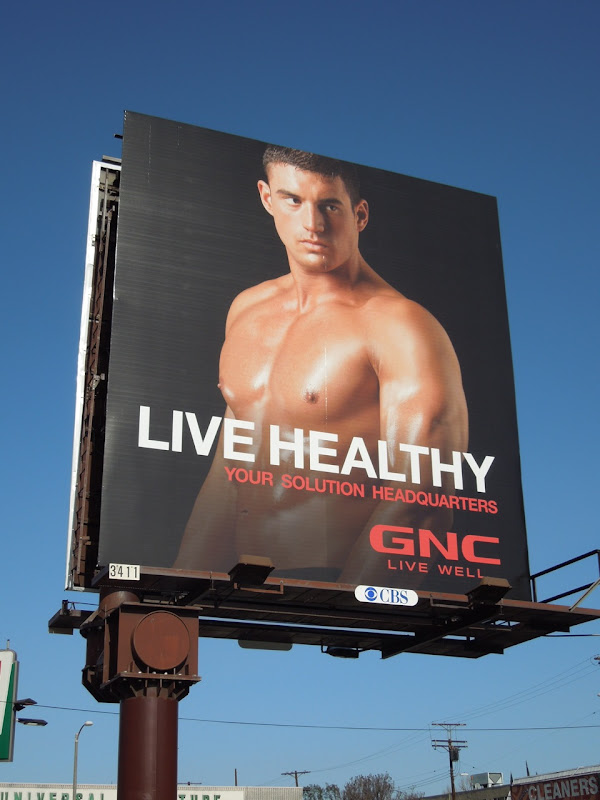 GNC Live Healthy billboard 2012