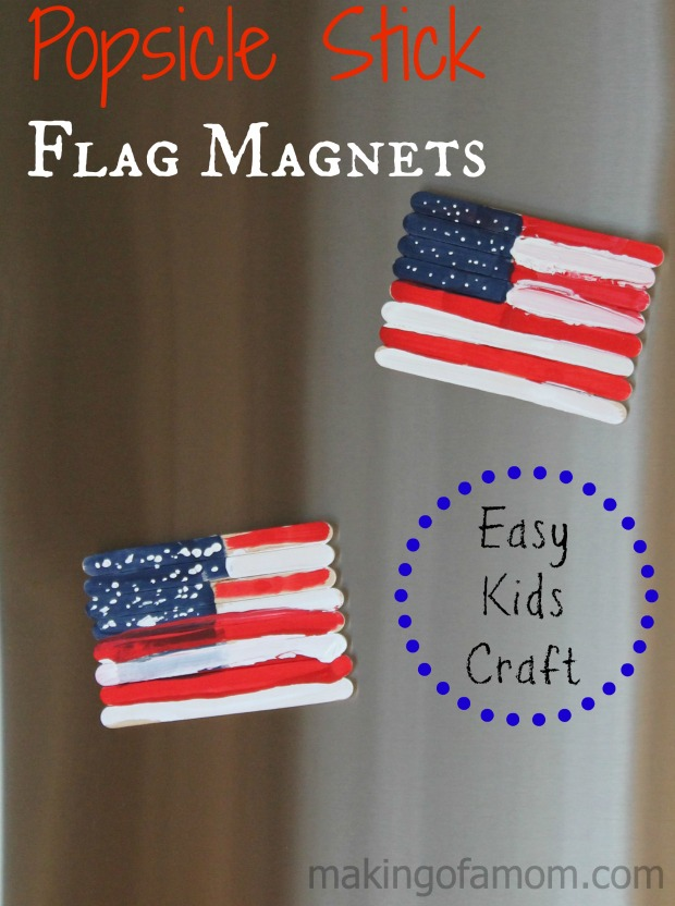 Popsicle Stick Flag Magnets | 20 Crafts for the 4th of July - Independence Day DIYs | directorjewels.com