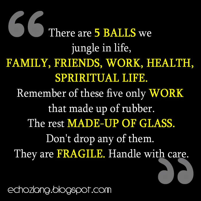 The 5 Balls we jungle in life