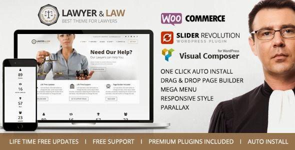 Best Responsive Lawyer Advocate WordPress Theme