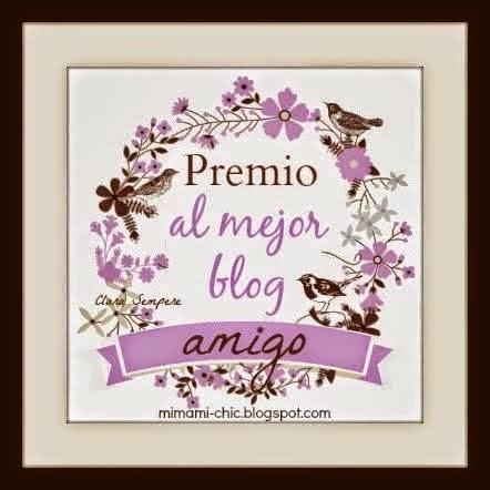 """PREMIO CONCEDIDO POR """"LAS CREACIONES DE MARIA JOSE"""""""