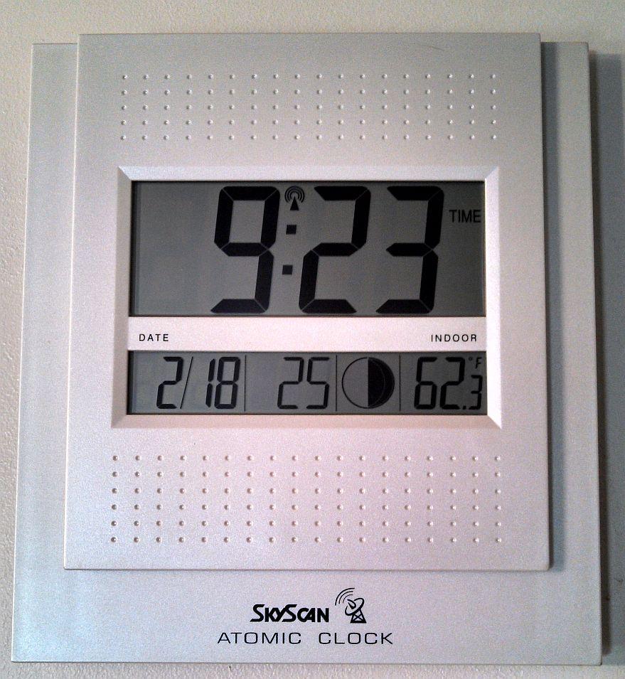 Set skyscan atomic clock