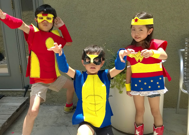 no sew kids super hero costume
