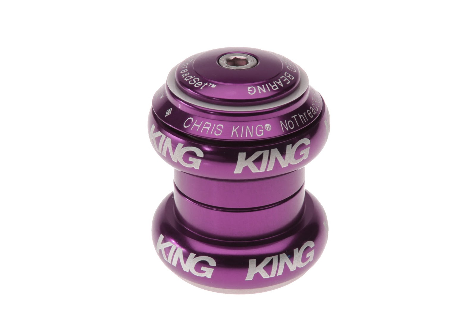 The limited edition purple Chris King NoThreadset headset will be Chris King smooth and durable AND look distinctively awesome!