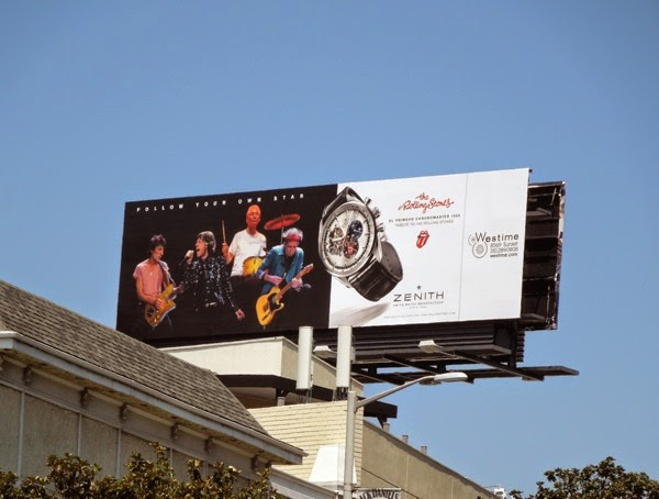 Rolling Stones Zenith watch billboard