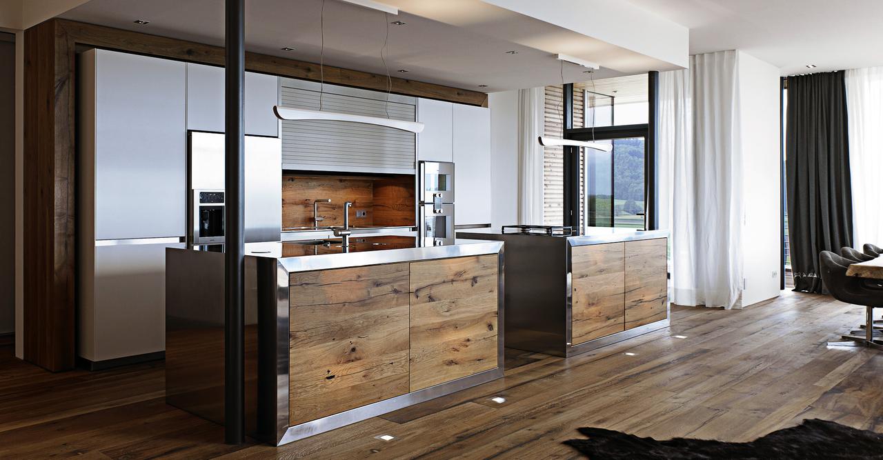 Pinceladas r sticas en la cocina moderna cocinas con - Suelos para cocinas rusticas ...