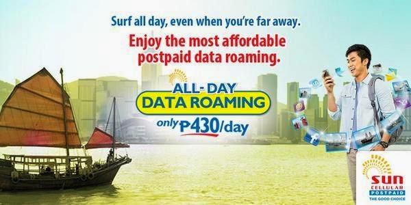 Sun Postpaid's All-Day Data Roaming
