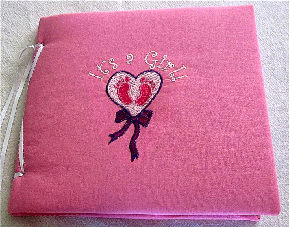 It's A Girl Heart with Feet Scrapbook Album
