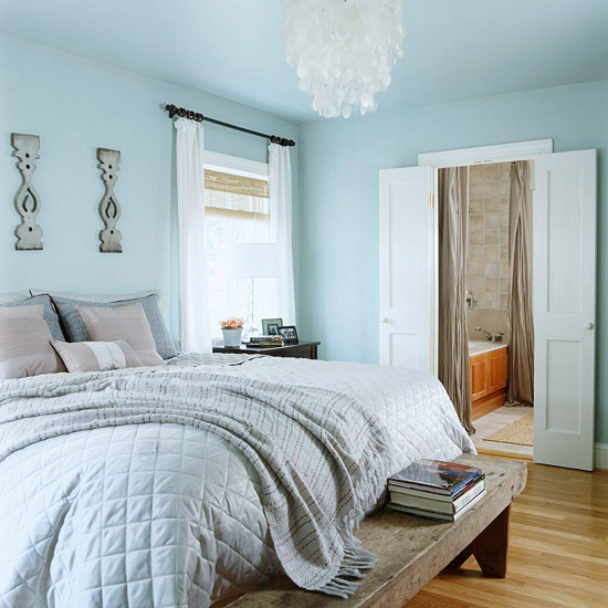 Modern furniture low cost updates ideas to freshen your bedroom Master bedroom light blue walls