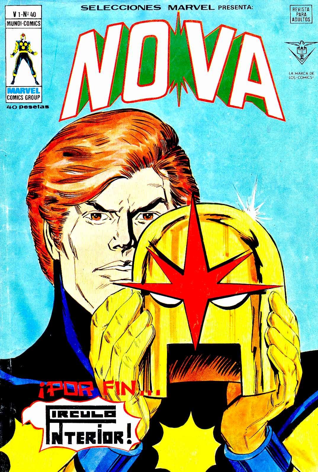 Portada de Nova-Selecciones Marvel Volumen 1 Nº 40 Ediciones Vértice