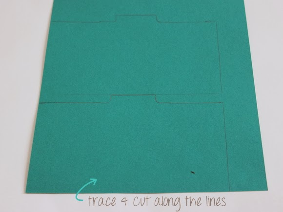 Second, trace your template and carefully cut them out