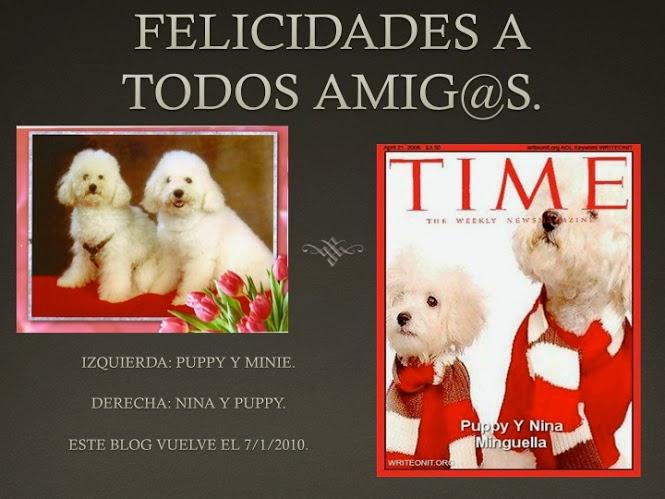 IZQUIERDA: PUPPY Y MINIE & A LA DERECHA NINA Y PUPPY... FUÉ EN EL INTERVALO DE NO SABER QUE HACER.