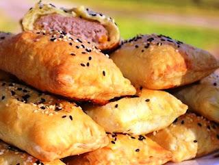 Пирожки с мясом и тыквой