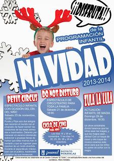 Programación Infantil Navidad 2013-2014 en Moratalaz.