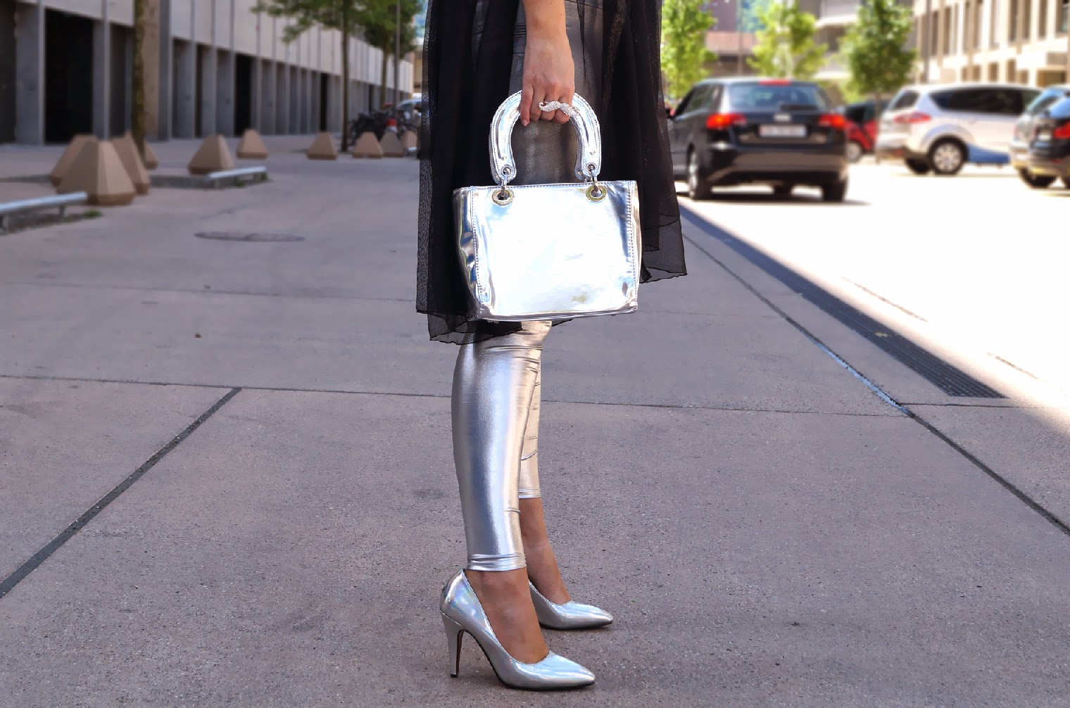 metallic outfit