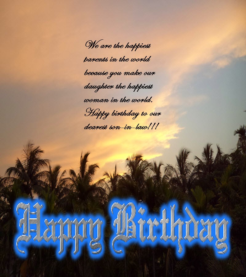 Birthday wishes for son in law happy birthday message and quotes birthday wishes for son in law happy birthday message and quotes m4hsunfo