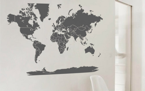 A 39 pallota viajeros - Vinilo mapa mundi ...
