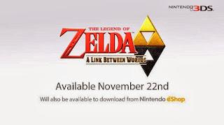 zelda link between worlds release date The Legend of Zelda: A Link Between Worlds (3DS)   Release Date & Info