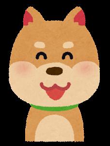 いろいろな表情の犬のイラスト「笑い顔」