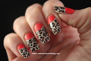 textured polish nail art