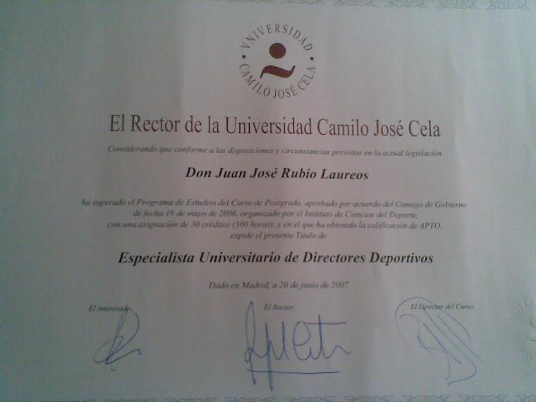 ESPECIALISTA UNIVERSITARIO DE DIRECTORES DEPORTIVOS