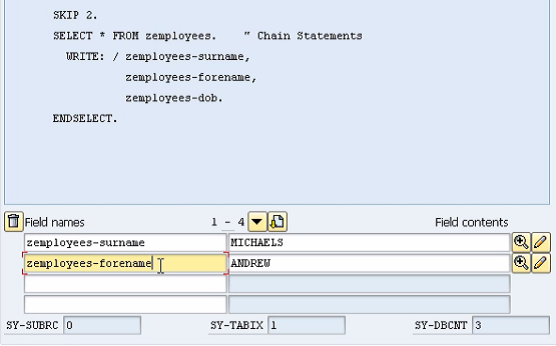 Fields mode in ABAP debugger