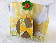 Caja con plato de cartón