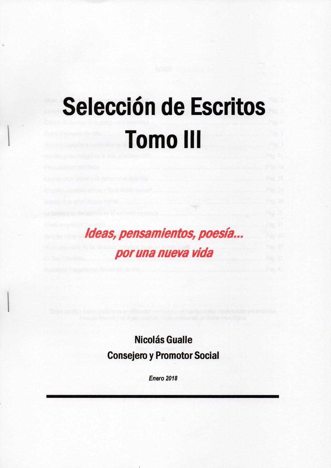 SELECCIÓN DE ESCRITOS TOMO III - NICOLÁS GUALLE