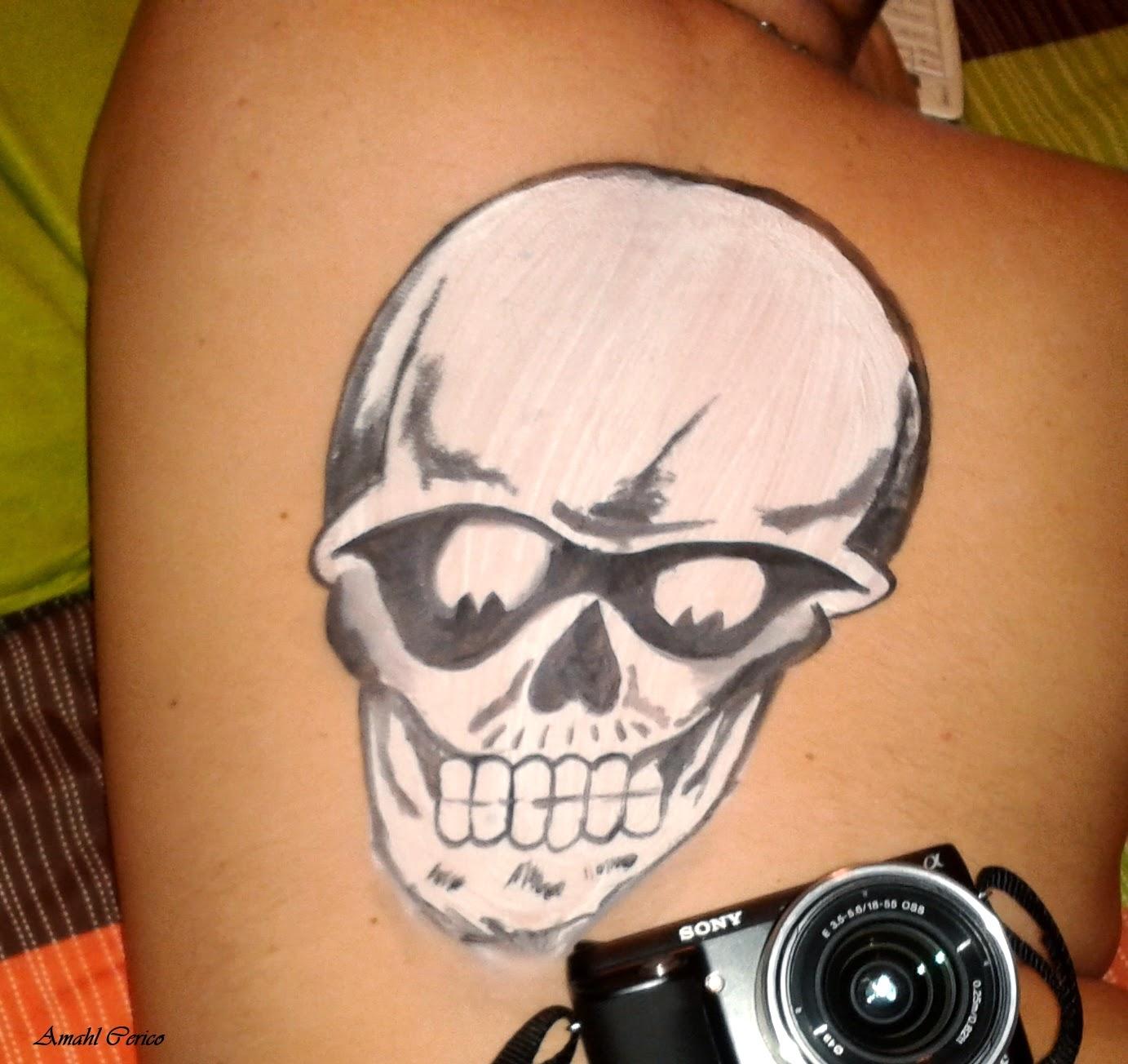 Skull Body Painting