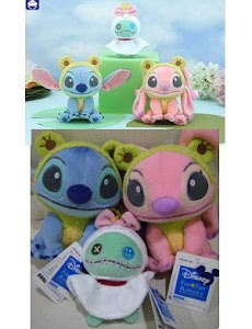 2009 Disney Sega Froggy Stitch & Angel, Sunny Doll Scrump Set