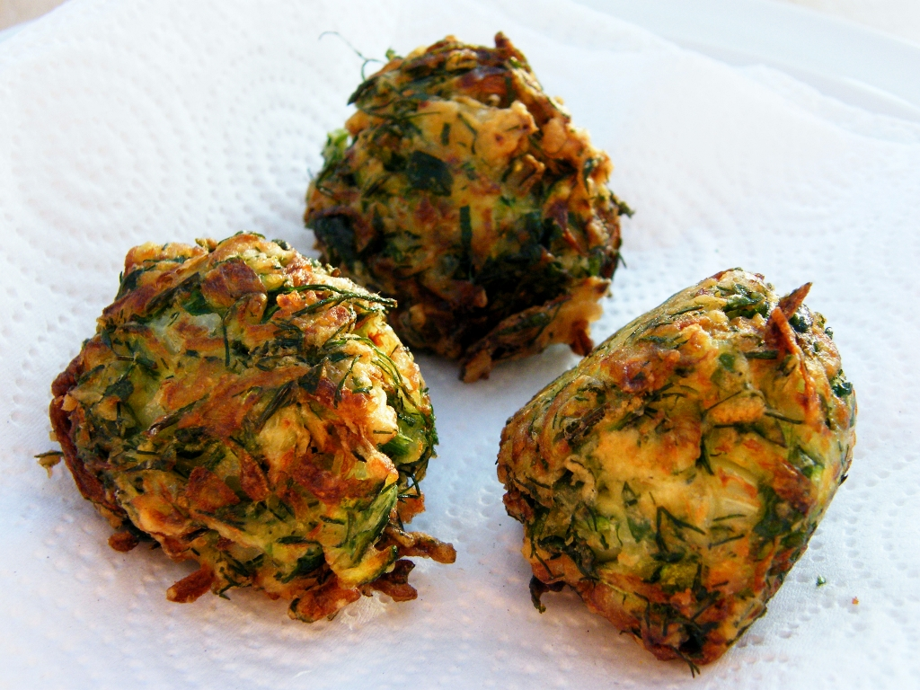 Turkish Zucchini Fritters - Tinned Tomatoes