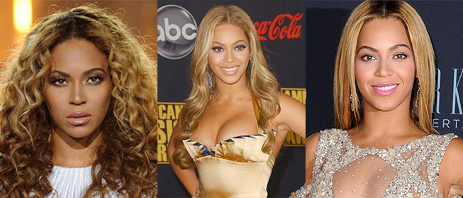 Beyonce, long hair, curly hair, middle part, fall hair trends