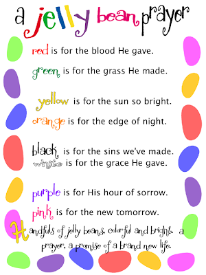 image relating to Jelly Bean Prayer Printable called A Jelly Bean Prayer