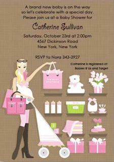 Pink Baby Boutique Baby Shower Invitations
